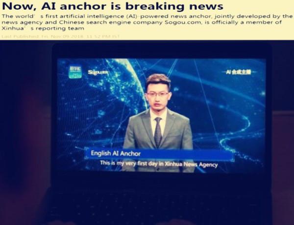 印媒:新华社与搜狗合作干了一件大事 让AI主播成为重大新闻